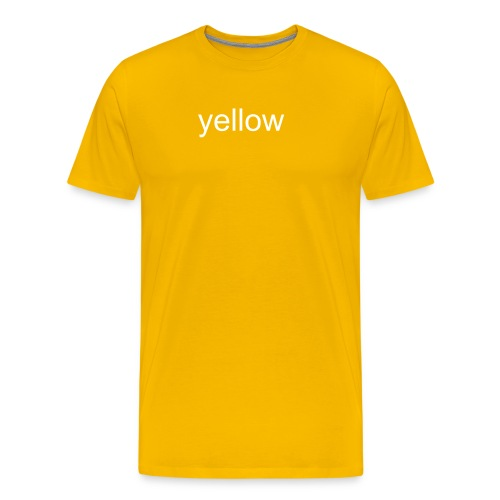 yellow (white) - Männer Premium T-Shirt