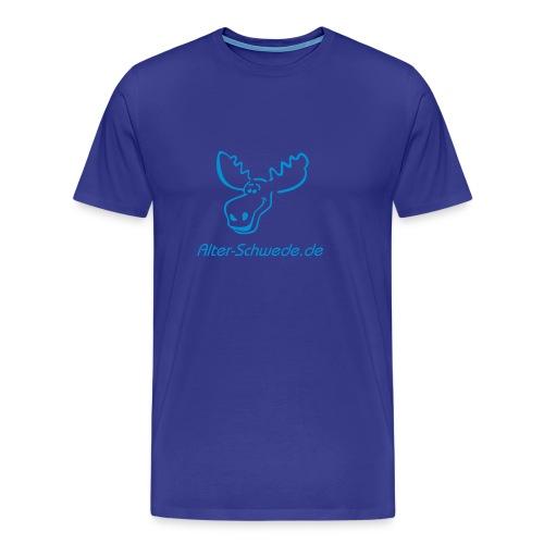 Lustiges Elchshirt Shirt S - XXL  Klassik Blau Blau - Männer Premium T-Shirt