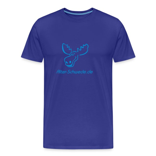Lustiges Elchshirt Shirt S - XXL  Klassik Blau Blau
