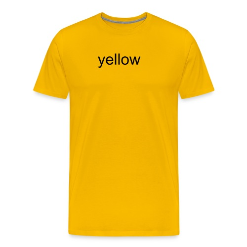 yello (black) - Männer Premium T-Shirt