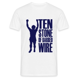 BILLY STATUE - TEN STONE OF BARBED WIRE - Men's T-Shirt