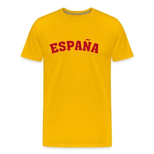 M-STCO, Espana, rot auf gelb - Männer Premium T-Shirt