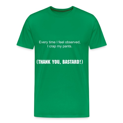 T-Shirt Thank you, Bastard! - Männer Premium T-Shirt