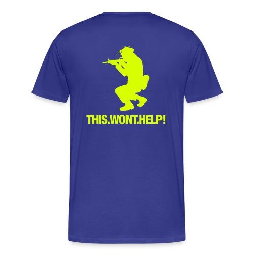anti-war blau - Männer Premium T-Shirt