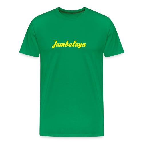 Jambalaya T-Shirt dunkelgrün/gelb - Männer Premium T-Shirt