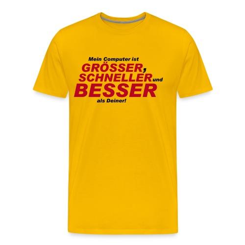 LAN-Wear / Grösser und Besser - Männer Premium T-Shirt