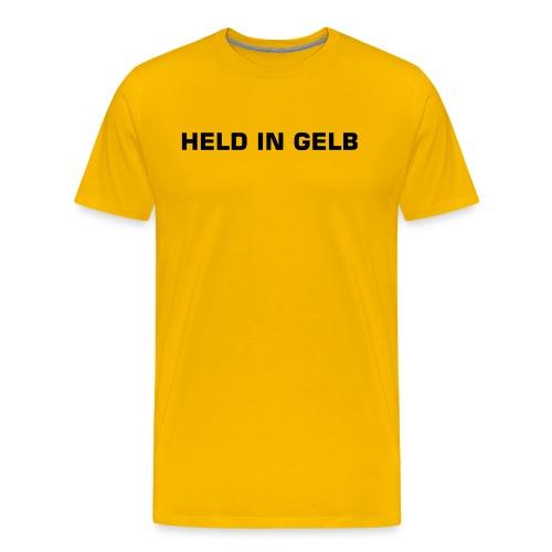 MODEL: HELD IN GELB - Männer Premium T-Shirt