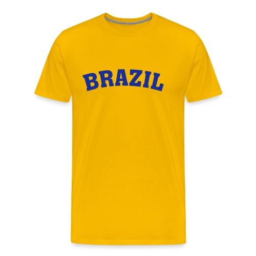 M-STCO, Brazil, blau auf gelb - Männer Premium T-Shirt