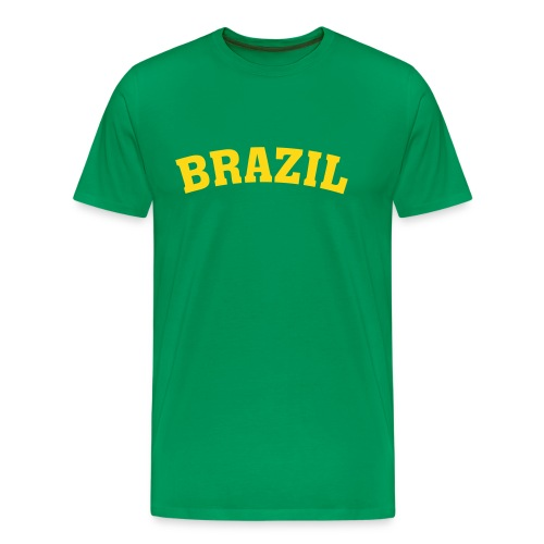 M-STCO, Brazil, gelb auf grün - Männer Premium T-Shirt