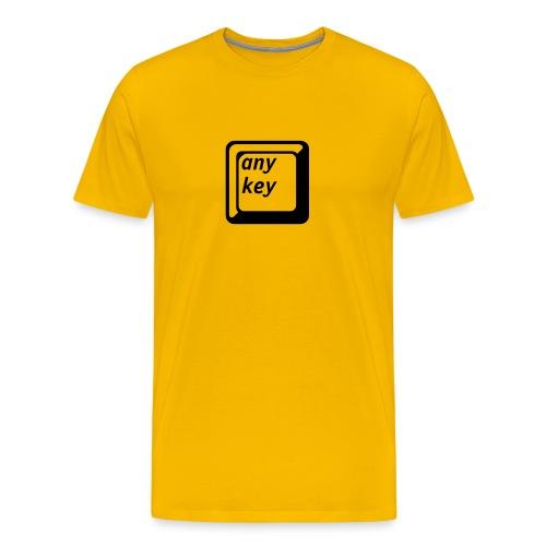 any key gelb/schwarz - Männer Premium T-Shirt