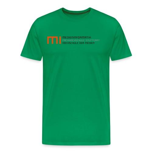 MI @ HdM (grün) - Männer Premium T-Shirt