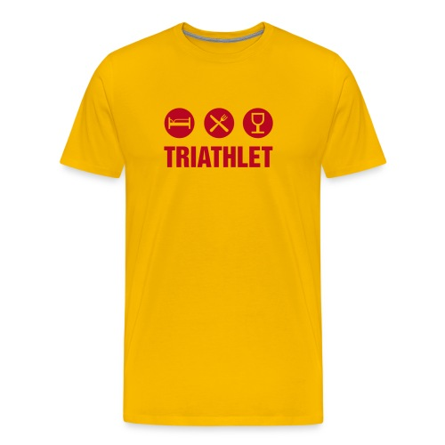 Triathlet gelb - Männer Premium T-Shirt