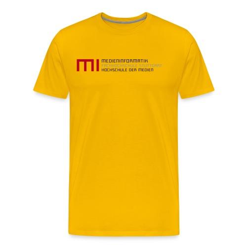 MI @ HdM (gelb) - Männer Premium T-Shirt
