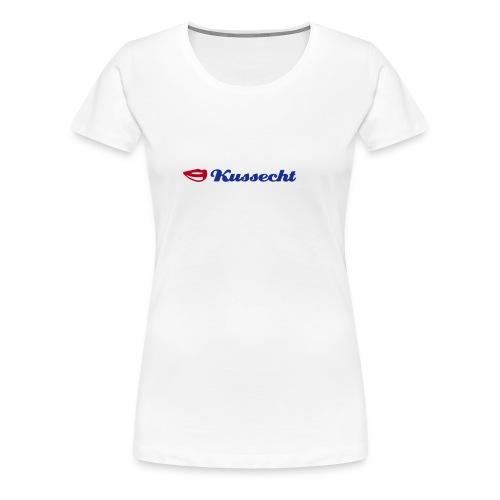 Kussecht Beauty Crew Neck Weiss - Frauen Premium T-Shirt