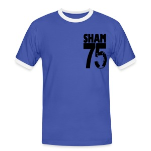 SHAM 75 - EUROPEAN CUP 75 - LEEDS SALUTE PLACEMENT - Men's Ringer Shirt