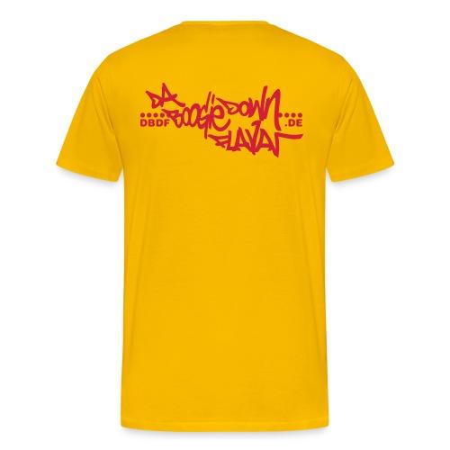 shirt dbdf logo hinten - Männer Premium T-Shirt