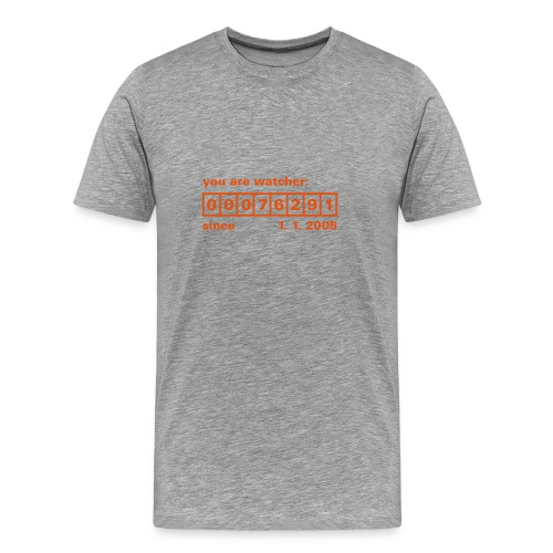 Counter Grau Rot - Männer Premium T-Shirt