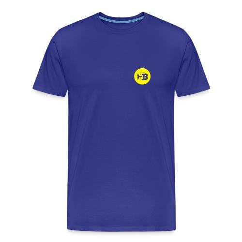 Biller Shirt Blau/Gelb - Männer Premium T-Shirt