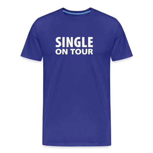 Single blau - Männer Premium T-Shirt
