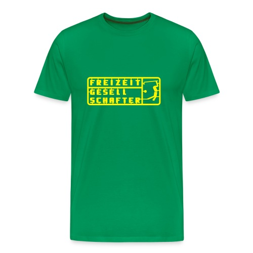 Freizeit Green/Yellow - Männer Premium T-Shirt