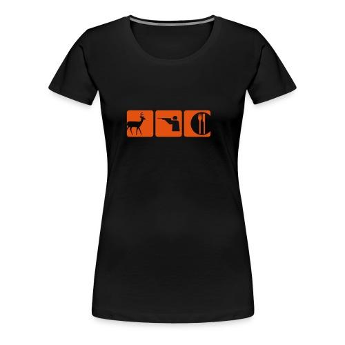 Girlie T-Shirt Hirsch-Ragout - Frauen Premium T-Shirt