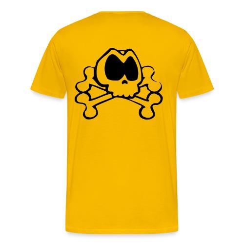 Großer Totenkopf VORSICHT RÜCKSEITE (T-shirt) - Männer Premium T-Shirt
