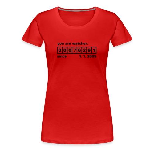 Counter Rot Schwarz - Frauen Premium T-Shirt