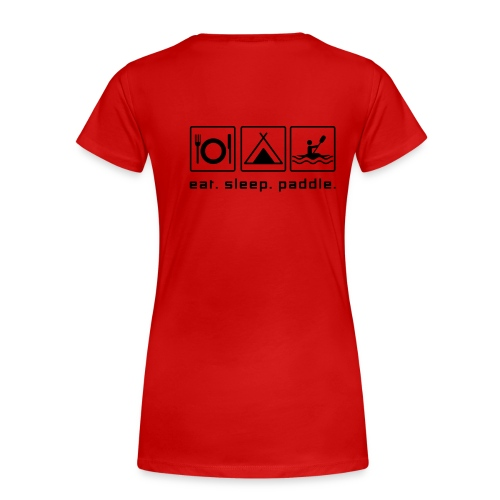 teamwsvb |eat.sleep.paddle | Girlie-Shirt - Frauen Premium T-Shirt