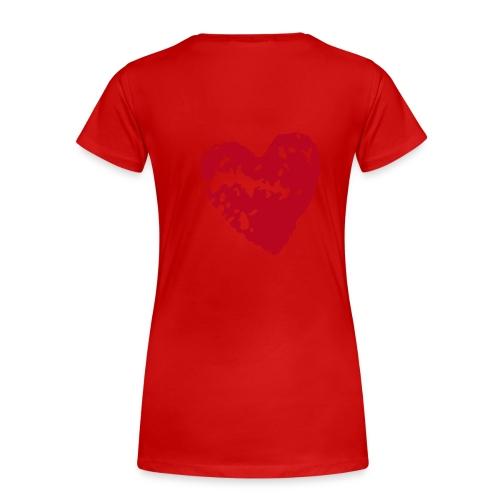 Rose/Heart - Women's Premium T-Shirt