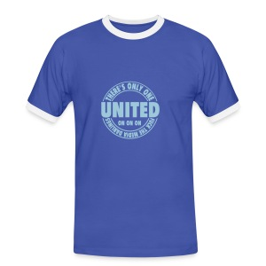 THERE'S ONLY ONE UNITED - Men's Ringer Shirt
