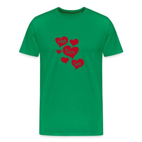 Hab Dich Lieb Tshirt - Männer Premium T-Shirt