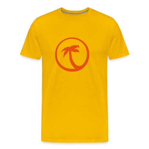 Palme (gelb) - Männer Premium T-Shirt
