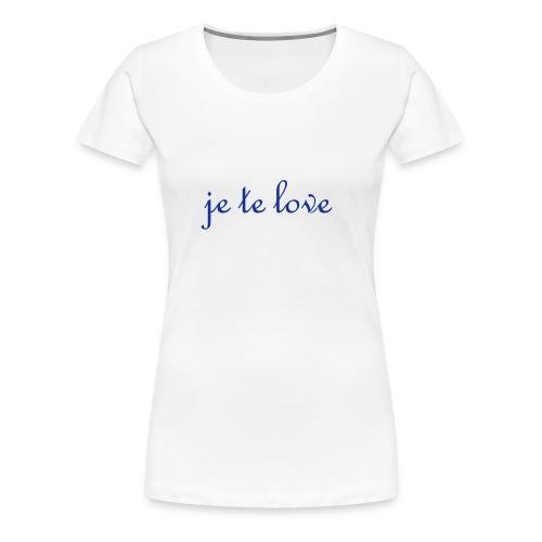 classic girlie T je te love - Women's Premium T-Shirt