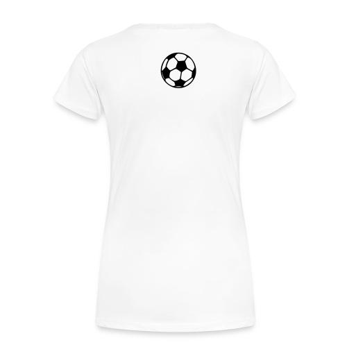 Fußball Freundin Weiss - Frauen Premium T-Shirt