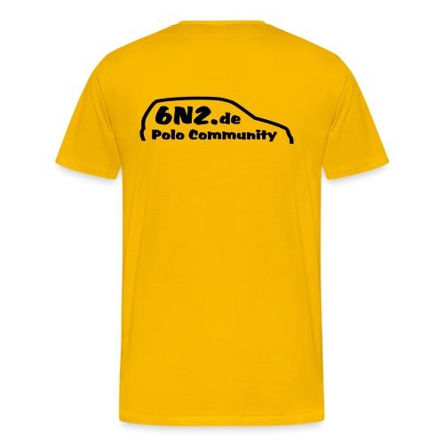 Stedman Comfort -gelb - Männer Premium T-Shirt