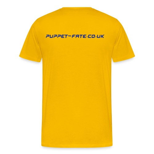 Burn the Puppet Yellow/Blue Stedman - Men's Premium T-Shirt