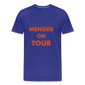 Blau/Orange - Männer Premium T-Shirt