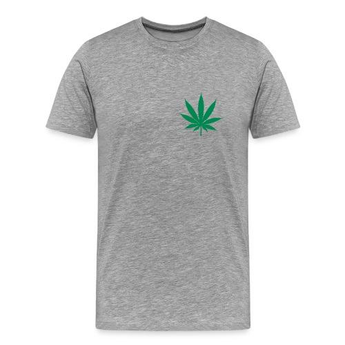 T-SHIRT CANNA-SMALL Gris-Vert - T-shirt Premium Homme