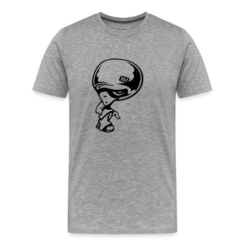 Comic-Brain - grau - Männer Premium T-Shirt