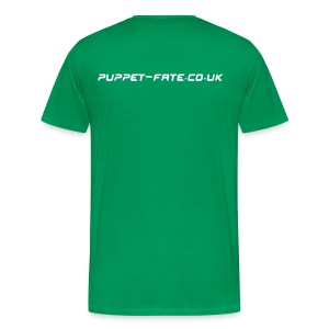 Burn the Puppet Green/White Stedman - Men's Premium T-Shirt