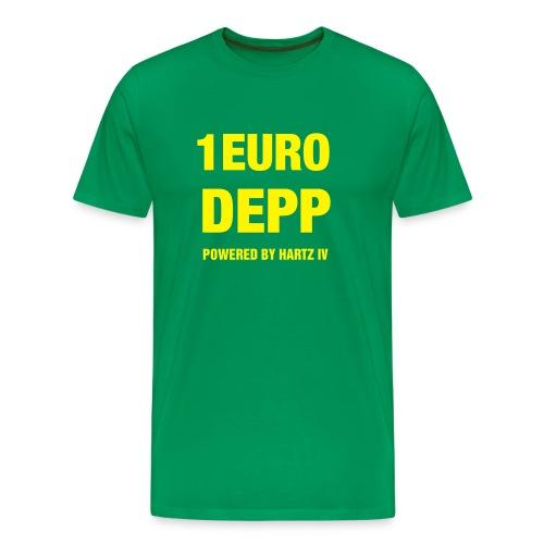 T-Shirt grün mit Druck auf Vorderseite - Männer Premium T-Shirt
