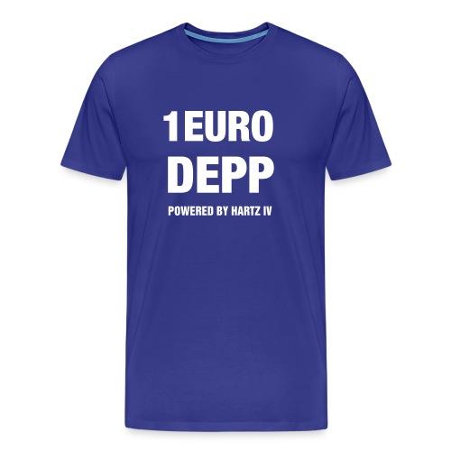 T-Shirt blau mit Druck auf Vorderseite - Männer Premium T-Shirt