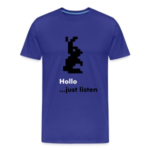 Hollo 'Just listen' T-shirt - Men's Premium T-Shirt