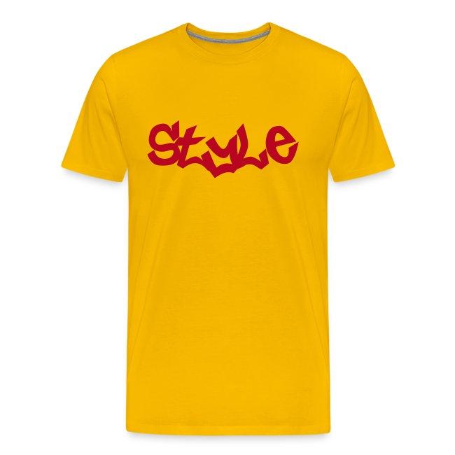 T-SHIRT STYLE Jaune-Rouge