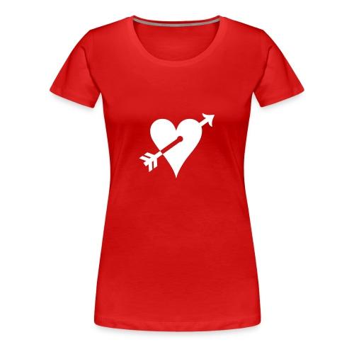 Girlie Shirt Herz - Frauen Premium T-Shirt