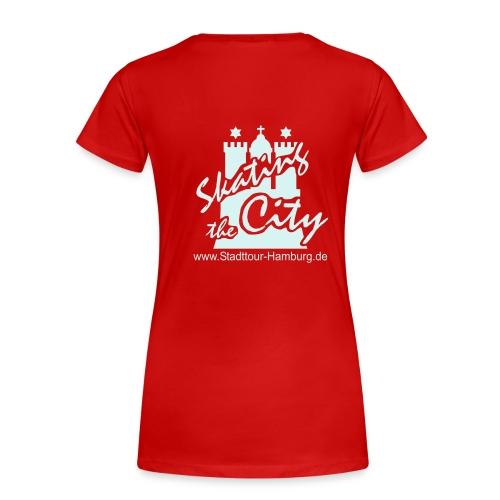 Girlie T-Shirt, Reflex-Logo hinten - Frauen Premium T-Shirt