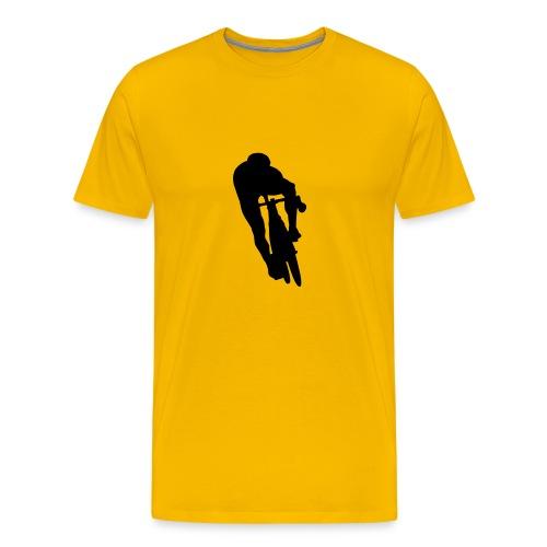 Lance-7-Shirt, vorne mit stylischem Biker - Männer Premium T-Shirt
