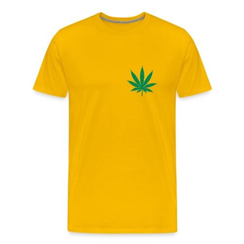 T-SHIRT CANNA-SMALL Jaune-Vert - T-shirt Premium Homme