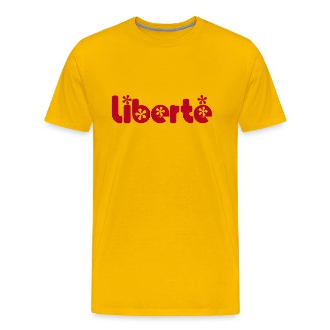 T-SHIRT LIBERTE Jaune-Rouge
