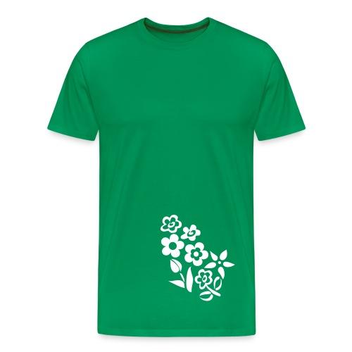 Flower Design - Männer Premium T-Shirt